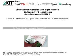 Structural frameworks for open, digital research - Strategy, policy & infrastructure