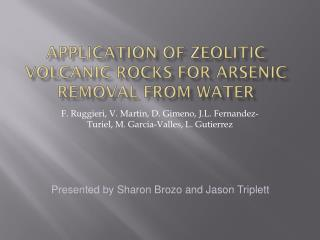 Application of zeolitic volcanic rocks for arsenic removal from water