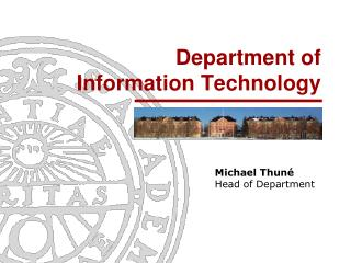 Department of  Information Technology