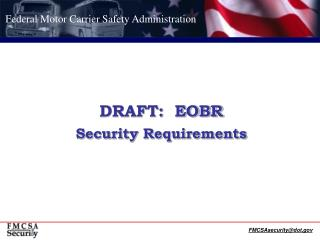 DRAFT:  EOBR Security Requirements