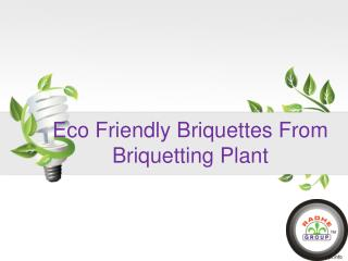 Eco Friendly Briquettes From Briquetting Plant