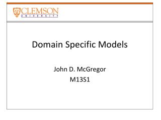 Domain Specific Models