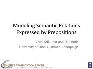 Modeling Semantic Relations Expressed by Prepositions
