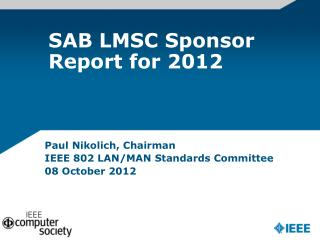 SAB  LMSC Sponsor Report for 2012