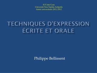 Techniques d'expression écrite et orale