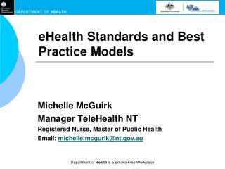eHealth Standards and Best Practice Models