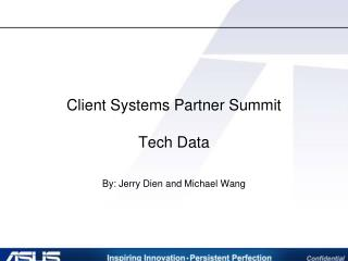 Client Systems Partner Summit Tech Data