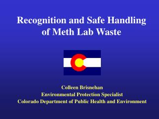 Recognition and Safe Handling of Meth Lab Waste