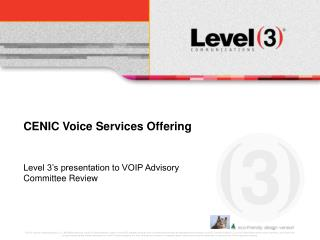 CENIC Voice Services Offering