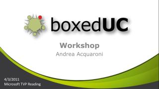 Workshop Andrea  Acquaroni