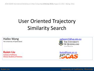 User Oriented Trajectory Similarity Search