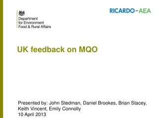 UK feedback on MQO