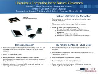 Ubiquitous Computing in the Natural Classroom