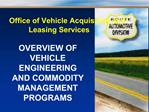 VEHICLE  ENGINEERING BRANCH