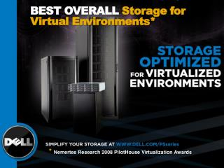 BEST Overall  Storage for Virtual Environments*