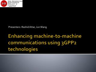 Enhancing machine-to-machine communications using 3GPP2 technologies
