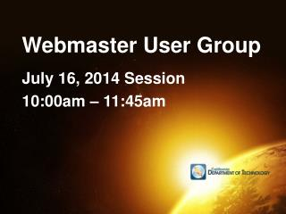 Webmaster User Group