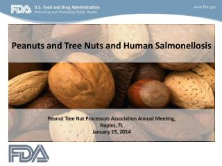 Peanuts and Tree Nuts and Human Salmonellosis