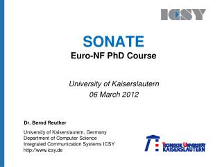 SONATE Euro-NF  PhD Course