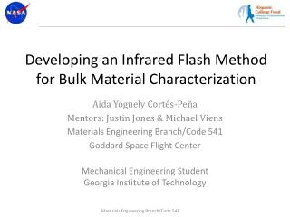 Developing an Infrared Flash Method for Bulk Material Characterization