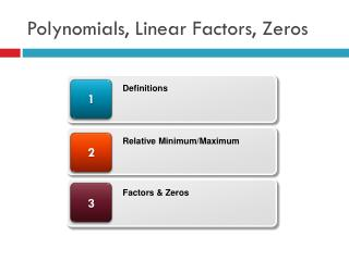 Polynomials, Linear Factors, Zeros