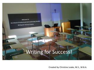 Writing for Success!