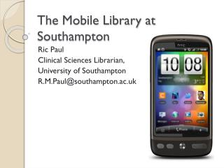 The Mobile Library at Southampton