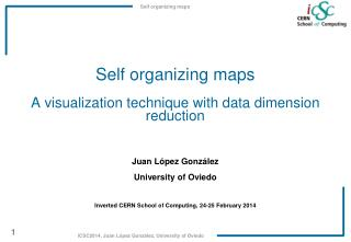 Self  organizing maps A visualization technique with data dimension reduction