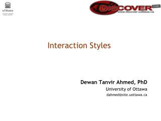 Interaction Styles