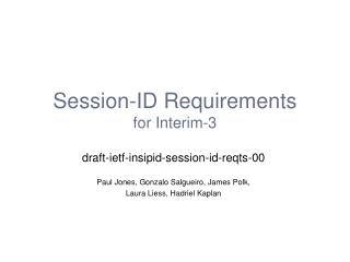 Session-ID Requirements for Interim-3