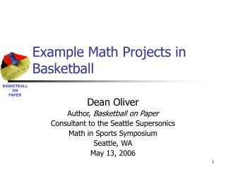 Example Math Projects in Basketball