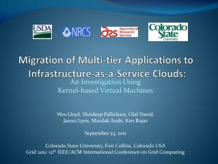 Migration of Multi-tier Applications to  Infrastructure-as-a-Service Clouds: