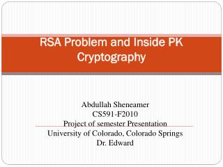 RSA Problem and Inside PK Cryptography