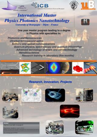 International Master             Physics Photonics Nanotechnology