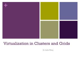 Virtualization  in Clusters and Grids