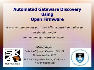 Automated Gateware Discovery Using Open Firmware