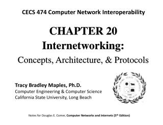 CHAPTE R 20 Internetworking: Concepts, Architecture, & Protocols