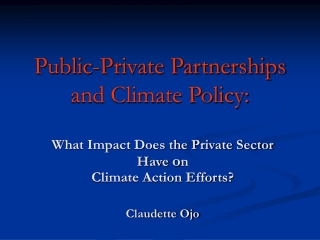 Public-Private-Partnerships