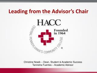Leading from the Advisor's Chair