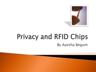 Privacy and RFID Chips