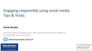 Engaging responsibly using social media Tips & Tricks