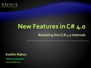 New Features in C# 4.0