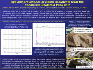 Age and provenance of  clastic  sediments from the  nonmarine  Goldstein Peak unit