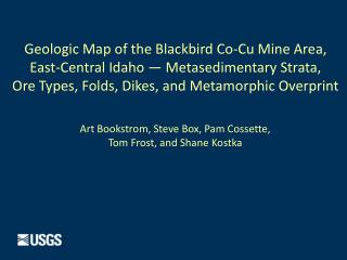Geologic Map of the Blackbird Co-Cu Mine Area,  East-Central Idaho —  Metasedimentary  Strata,