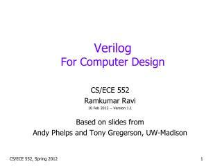 Verilog For Computer Design