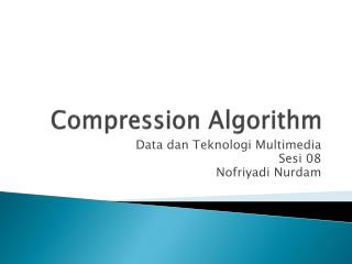 Compression Algorithm