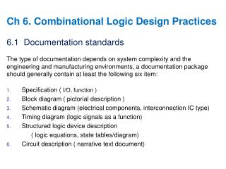 Ch 6. Combinational Logic Design Practices