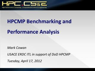 HPCMP Benchmarking and Performance Analysis