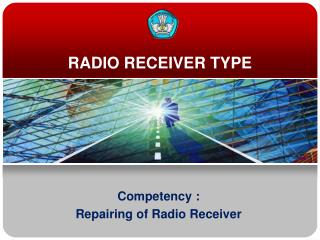 RADIO RECEIVER TYPE