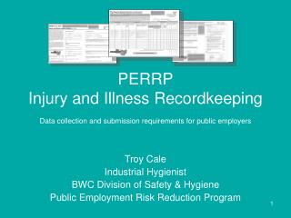 PERRP Injury and Illness Recordkeeping Data collection and submission requirements for public employers